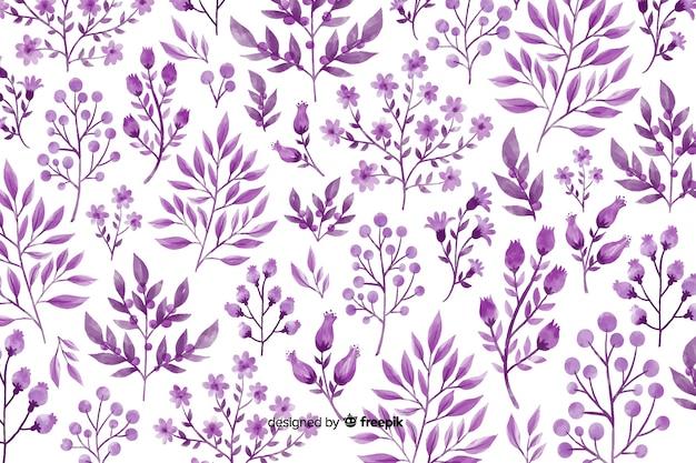 単色の水彩花の背景