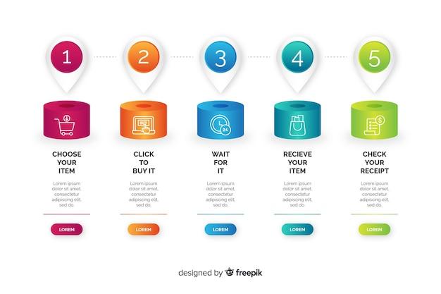 Бизнес шаги инфографики