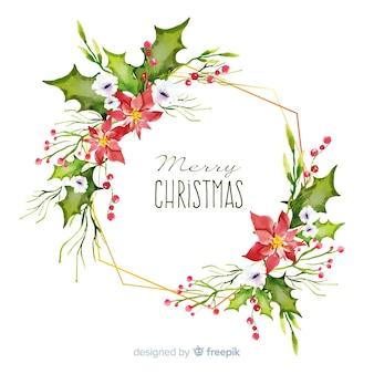 Акварельные рождественские украшения