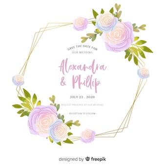結婚式招待状のエレガントなテンプレート