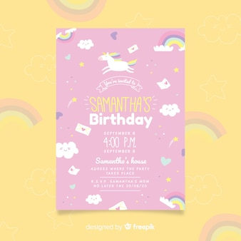 Приглашенный на день рождения шаблон флаера