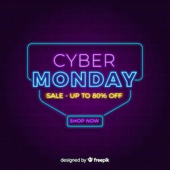 Неоновый кибер понедельник фон
