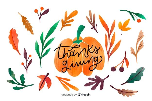 かぼちゃで描かれた感謝祭の背景
