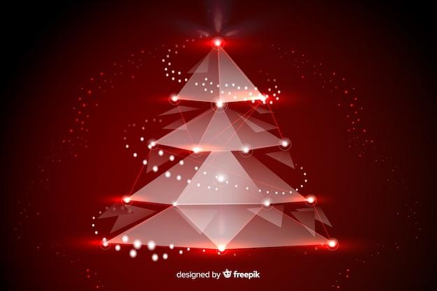 美しい抽象的なクリスマスツリー