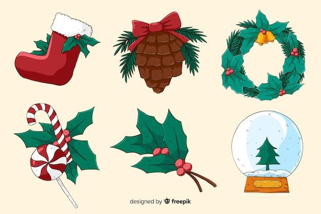 手描きのクリスマスデコレーション