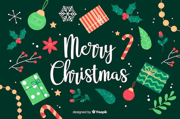 手描きクリスマス背景