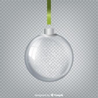 Красивый хрустальный елочный шар