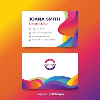 Визитная карточка с абстрактным дизайном