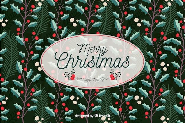 クリスマスの背景に手描きスタイル