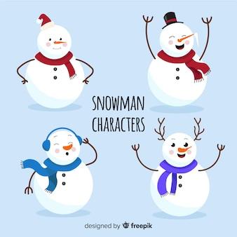 フラット雪だるまキャラクターコレクション
