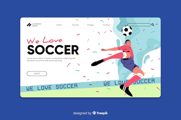 Спортивный шаблон целевой страницы