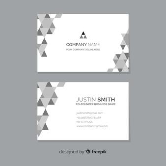 Шаблон абстрактный монохромный визитная карточка