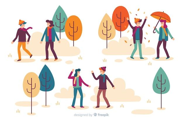 Осенняя концепция одежды для иллюстрации