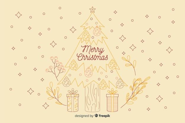 ビンテージクリスマス背景