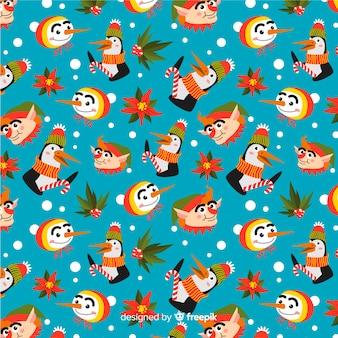 面白いカラフルなクリスマスのパターン