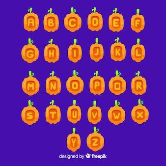 ハロウィーンのカボチャのアルファベット