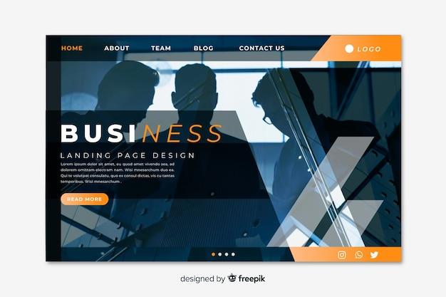 Лендинг бизнес с фото