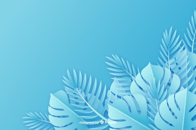 Фон бумаги в стиле монохромных листьев