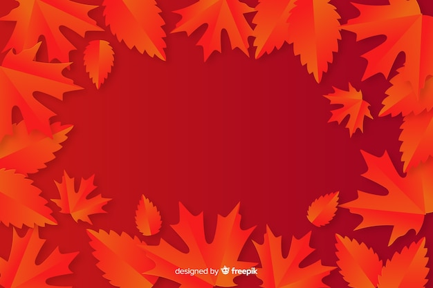 紙のスタイルのモノクロの葉の背景