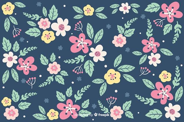 頭が変な花の背景