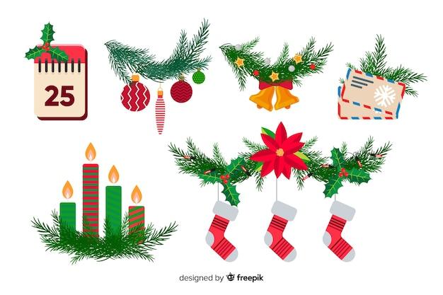 Новогоднее украшение в плоском дизайне