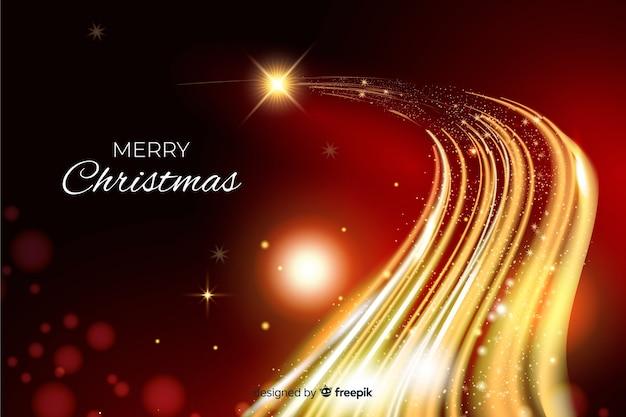 輝くデザインのクリスマス背景