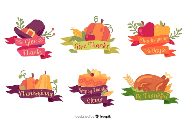 Винтажная коллекция значков благодарения