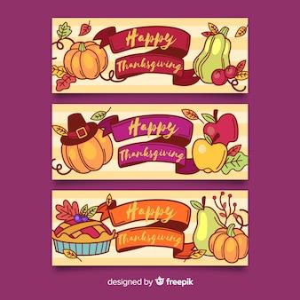 手描きの感謝祭のバナー