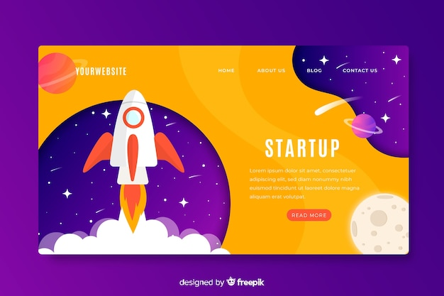 スタートアップビジネスのランディングページ