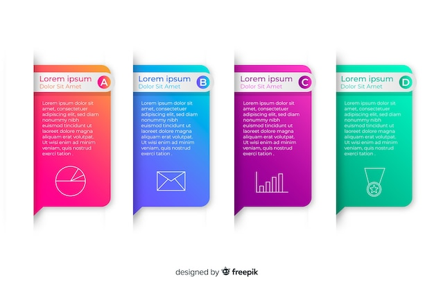 Градиент бизнес инфографики