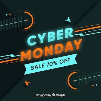 Кибер понедельник в плоском дизайне