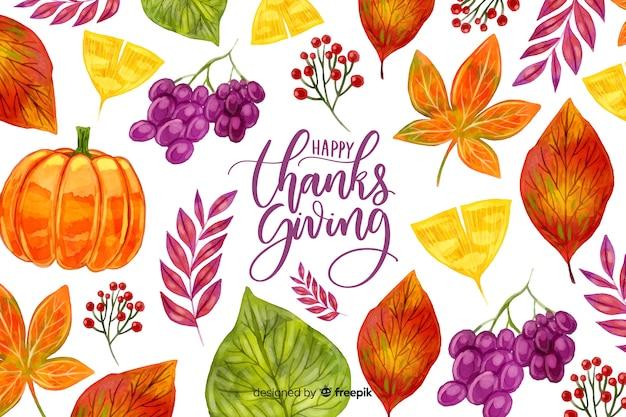 水彩の感謝祭の背景