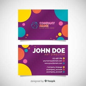 Шаблон абстрактный красочная визитная карточка