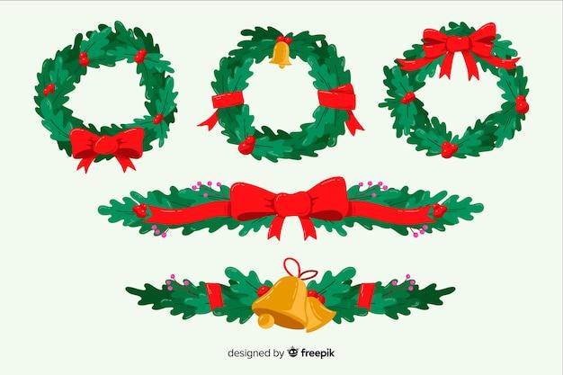 Ручной обращается рождественский венок