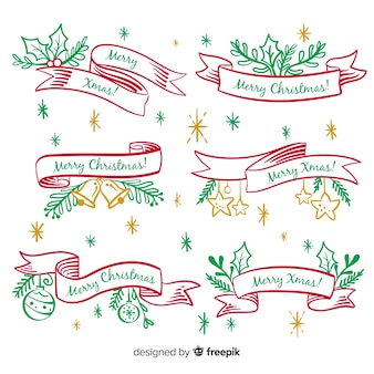 手描きクリスマスリボンコレクション