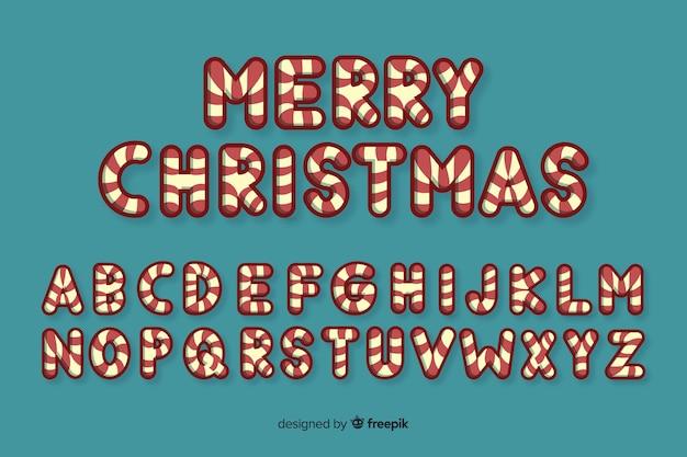 キャンディケインクリスマスアルファベット
