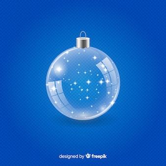 透明なクリスタルクリスマスボール