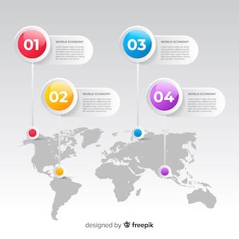 Карта мира бизнеса инфографики