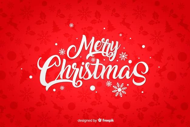 フラットなデザインの赤いクリスマス背景