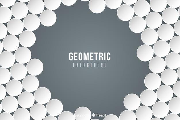 紙のスタイルの幾何学的図形