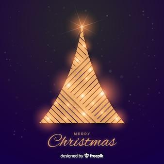 抽象的な黄金のクリスマスツリー
