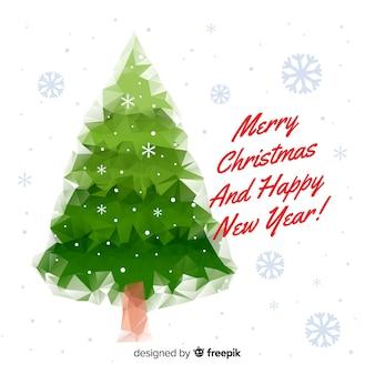 Абстрактный рождественская елка фоном