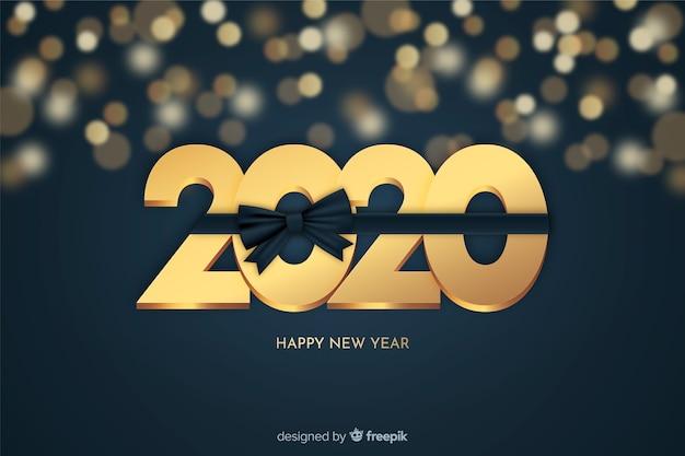黄金の新年の美しい背景