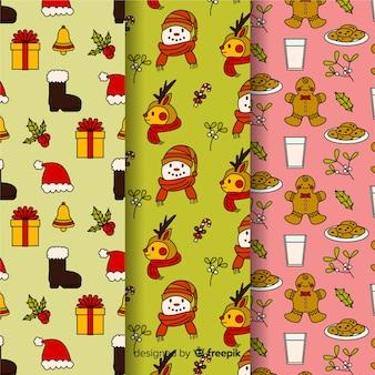 クリスマスのラッピングのシームレスパターン