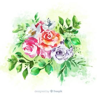 花のビンテージ結婚式の招待状