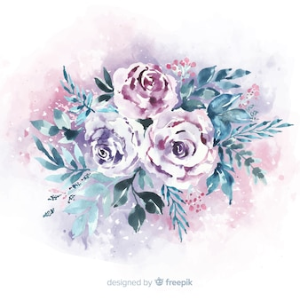 花の美しいビンテージブーケ