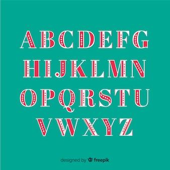 Старинный рождественский алфавитный набор
