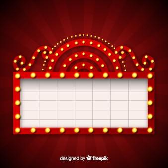 現実的なレトロな劇場の看板