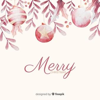 美しいアレンジメントでメリークリスマスボール