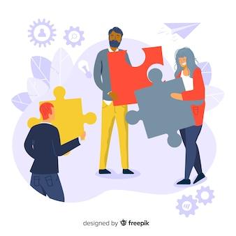 Концепция объединения команд для целевой страницы